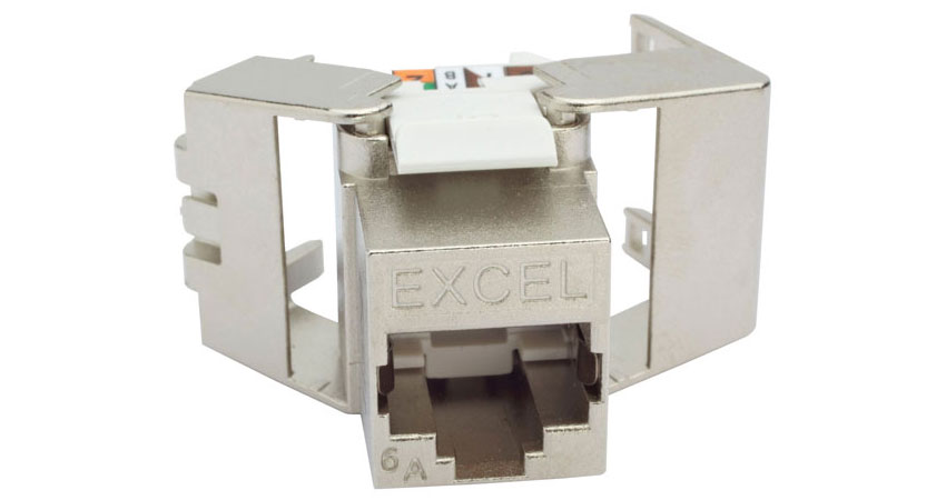 Excel Cat6A Low Profile Screened Keystone Jack