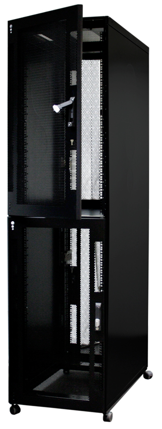 Usystems Uspace 48U 6210 Co-Location 2 Compartment Cabinet 600mm x 1000mm in Black