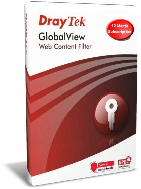 Draytek Global View Web Filtering 12 months licence - Physical Card - WCFB-CARD