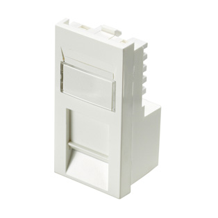 Cat6 UTP RJ45 Low Profile Shuttered Module