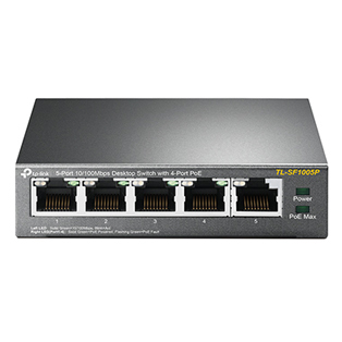 TP-Link TL-SF1005D 5-Port 10/100Mbps Unmanaged PoE Network Switch