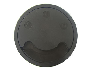 Air-Block Round Neoprene Gasket Grommet in Black - 169mm