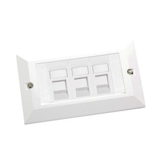 3x RJ45 Cat5e Modules in Doublegang Faceplate
