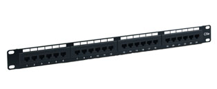 24 Way Value RJ45 Cat5e UTP Patch Panel - 1u