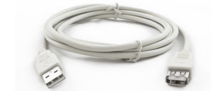 USB2 A Male - A Female Extension Lead