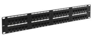 48 Way RJ45 Cat5e UTP Patch Panel - 2u