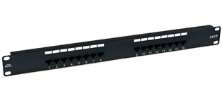 Excel 16 Port Cat5e Patch Panel - 1u RJ45 UTP