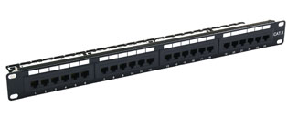 24 Way Cat6 Value RJ45 UTP Patch Panel - 1u