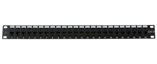 CE 24 Port Cat6 Patch Panel - High Density Through Coupler