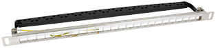 Excel Low Profile 24-port Keystone Patch Panel Frame