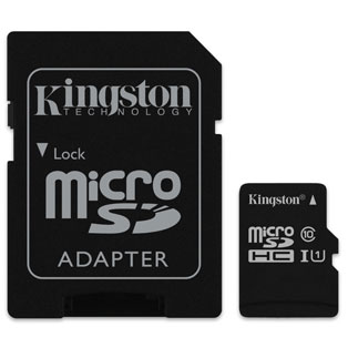 Kingston Technology Canvas Select memory card 64 GB MicroSDHC Class 10 UHS-I