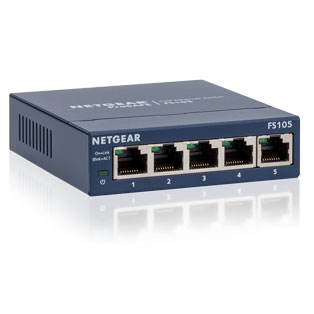 Netgear FS105-300UKS - 5 Port Unmanaged Fast Ethernet Switch
