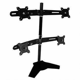 Amer Mounts AMR4S Quad Monitor Desk Mount Stand Base
