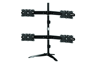 Amer Mounts AMR4S32 Quad Monitor Stand Mount Max 32 Inch Display