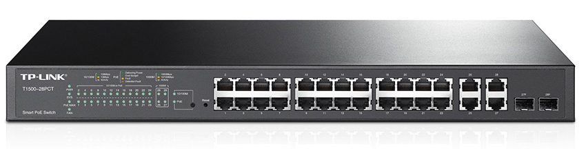 TP-Link T1500-28PCT 24-Port Fast Ethernet Smart PoE+ Switch