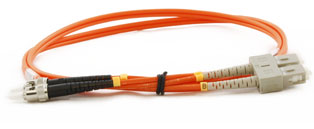 ST - SC Connector Multimode Duplex Fibre Patch Leads