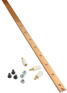 "Usystems 480mm Copper Bus Bar (19"") plus stand fixings"