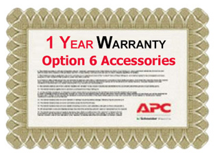 APC 1 Year Warranty Extension for Accessories Option 6