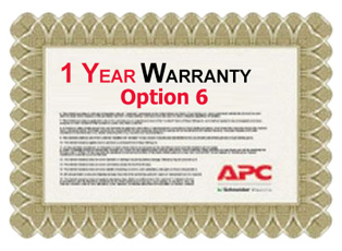APC Service Pack 1 Year Extended Warranty for Concurrent Sales (Option 6)