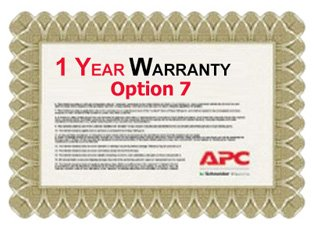 APC Service Pack 1 Year Extended Warranty for Concurrent Sales (Option 7)