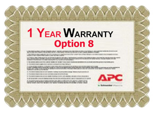 APC Service Pack 1 Year Extended Warranty for Concurrent Sales (Option 8)