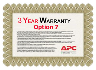 APC Service Pack 3 Year Extended Warranty for Concurrent Sales (Option 7)