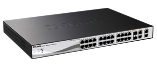 D-Link DES-1210-28P 24-Port Fast Ethernet PoE Smart Switch