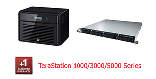 Buffalo Extended Warranty 1 year - TS, WS5000/3000/1000 series Rackmount, Desktop 6Bay, 8Bay