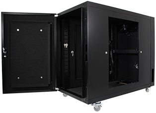 Usystems Uspace 12U 600mm x 1100mm Sound Proof Server Cabinet