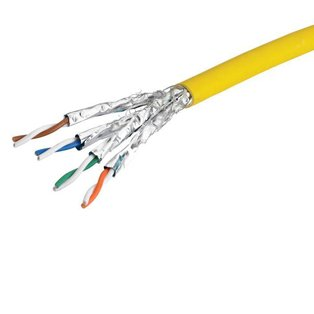 FTP LSOH Yellow Solid Cable 500m