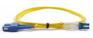 CE LC - SC Connector Singlemode Duplex Fibre Patch Leads
