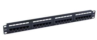 Excel 24 Port Cat5e Patch Panel - 1u RJ45 UTP