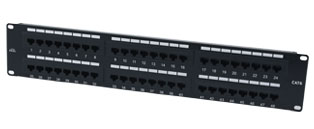 Excel 48 Port Cat6 Patch Panel - 2u UTP