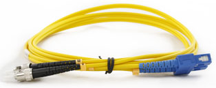 CE ST - SC Connector Singlemode Duplex Fibre Patch Leads