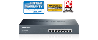 TP-Link TL-SG1008PE 8-Port Gigabit Unmanaged Switch with POE