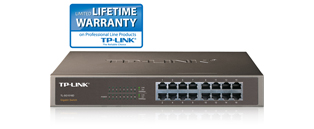 TP-Link TL-SG1016D 16-Port Gigabit Unmanaged Network Switch