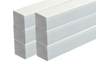 50 x 50mm PVC Trunking (6 x 3mts)