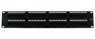 CE 48 Port Cat5e Patch Panel - 2u RJ45 UTP