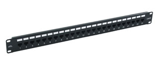 Excel 24 Port Cat5e Patch Panel - 1u RJ45 Through Coupler