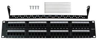 CE 48 Port Cat6 Patch Panel - 2u RJ45 UTP