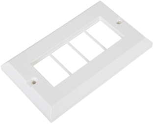Excel Double Gang LJ6C Bevelled Faceplate