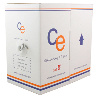 CE Cat5e Cable U/UTP Eca PVC 305mt Box, Grey