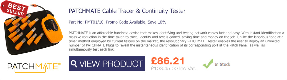 PatchMate Cable Tracer & Continuity Tester now available from Comms Express only £86.21 Ex VAT