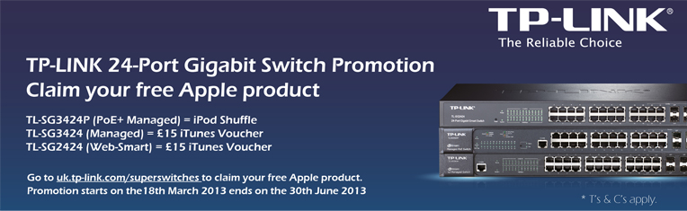 tp-link claim ipod shuffle or itunes vouchers with selected switches