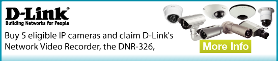 Buy 5 eligible IP cameras and claim D-Links Network Video Recorder the DNR-326