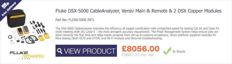 Fluke Networks Versiv DSX-5000 Copper CableAnalyzer