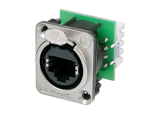 etherCON CAT5e IDC punch down terminals available with black housing