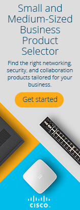 Cisco Small and Medium-Sized Business Product Selector. Get started. Find the right networking, security, and collaboration products for your business, tailored to your size and your goals, in just a few quick questions. Get started.