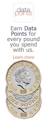 Earn Data Points for every pound you spend with us. Learn more