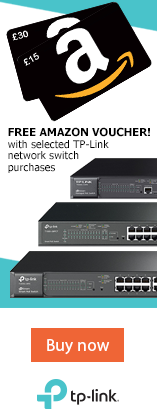 Free Amazon voucher with selected TP-Link network switch purchases.